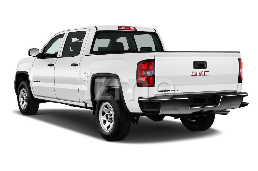 Car pictures of rear three quarter view of 2018 GMC Sierra 1500 2WD Crew Cab Short Box 4 Door Pick-up Angular Rear