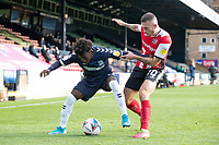 Lewis Page of Exeter City gets to grips with Terrell Egbri, Southend United during Southend United vs Exeter City, Sky Bet EFL League 2 Football at Roots Hall on 10th October 2020