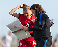 Bradenton, FL - Sunday, June 12, 2018: USA Staff, Talia DellaPeruta during a U-17 Women's Championship Finals match between USA and Mexico at IMG Academy.  USA defeated Mexico 3-2 to win the championship.