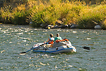 Couple rafting on the Deschutes River, Central Oregon