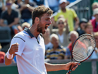 The Hague, Netherlands, 31 July, 2016, Tennis,  The Hague Open, Robin Haase (NED) jubilates his tournament victory over AdamPavlasek (CZE)<br /> Photo: Henk Koster/tennisimages.com