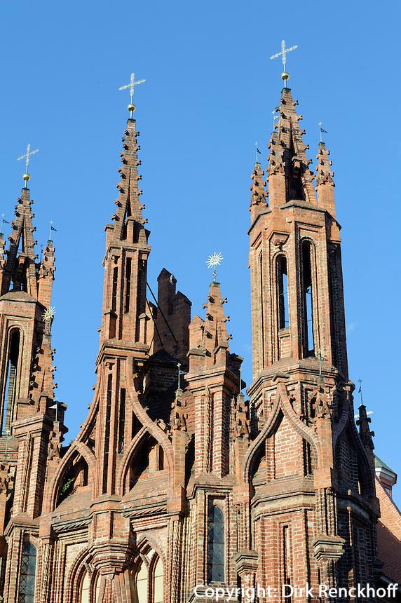 St. Anna in Vilnius, Litauen, Europa, Unesco-Weltkulturerbe