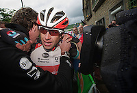 emotional win for Stijn Devolder as he hugs his carer<br /> <br /> Belgian Championchips 2013