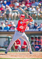 15 March 2016: Washington Nationals first baseman Clint Robinson in action during a Spring Training pre-season game against the Houston Astros at Osceola County Stadium in Kissimmee, Florida. The Nationals defeated the Astros 6-4 in Grapefruit League play. Mandatory Credit: Ed Wolfstein Photo *** RAW (NEF) Image File Available ***