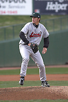 April 5, 2007:  Clayton Kershaw of the Great Lakes Loons at Coveleski Stadium in South Bend, IN.  Photo by:  Chris Proctor/Four Seam Images