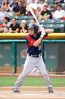 Ty Kelly (14) of the Tacoma Rainiers at bat against the Salt Lake Bees in Pacific Coast League action at Smith's Ballpark on July 9, 2014 in Salt Lake City, Utah.  (Stephen Smith/Four Seam Images)