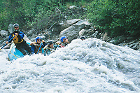 Whitewater rafting down the Nenana river, Denali Park, Alaska