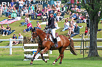 5th September 2021; Bicton Park, East Budleigh Salterton, Budleigh Salterton, United Kingdom: Bicton CCI 5* Equestrian Event; Gemma Tattersall riding Chilli Knight celebrates her win at Bicton 5*