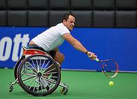 December 189 2014, Rotterdam, Topsport Centrum, Lotto NK Tennis, Wheelchair men's semifinal,  Tom Egberink (NED)<br /> Photo: Tennisimages/Henk Koster