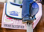 August 31, 2020: Swiss Skydiver exercises as horses prepare for the 2020 Kentucky Derby and Kentucky Oaks at Churchill Downs in Louisville, Kentucky. The race is being run without fans due to the coronavirus pandemic that has gripped the world and nation for much of the year. Scott Serio/Eclipse Sportswire/CSM