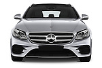 Car photography straight front view of a 2017 Mercedes Benz E-Class Launch-Edition 5 Door wagon Front View