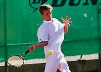 August 9, 2014, Netherlands, Rotterdam, TV Victoria, Tennis, National Junior Championships, NJK,  Alec Deckers (NED)  <br /> Photo: Tennisimages/Henk Koster