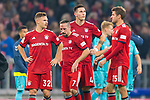 03.11.2018, Allianz Arena, Muenchen, GER, 1.FBL,  FC Bayern Muenchen vs. SC Freiburg, DFL regulations prohibit any use of photographs as image sequences and/or quasi-video, im Bild enttaeuscht Joshua Kimmich (FCB #32) Franck Ribery (FCB #7) Niklas Suele (FCB #4) Thomas Müller (FCB #25) <br /> <br />  Foto © nordphoto / Straubmeier