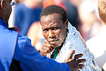 Quad Cities Marathon 2009 - Last years' marathon winner, Jynocel Basweti comes in behind Henry Kipsang in the 2009 Quad Cities Marathon.