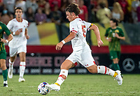 COLLEGE PARK, MD - SEPTEMBER 3: Maryland University midfielder Richie Nichols (15) on the ball during a game between George Mason University and University of Maryland at Ludwig Field on September 3, 2021 in College Park, Maryland.