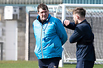 St Johnstone Training…29.03.19<br />Manager Tommy Wright pictured with Matty Kennedy during training this morning at McDiarmid Park ahead of tomorrow's trip to Motherwell.<br />Copyright Perthshire Picture Agency<br />Tel: 01738 623350  Mobile: 07990 594431