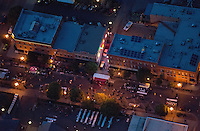 Aerial of B Street Bash street party. June 2014. 85144