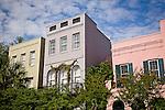Rainbow Row, East Bay St,  Charleston, SC, USA
