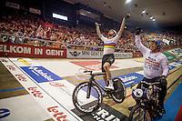 Victory for Sir Bradley Wiggins (GBR/Wiggins) in the derny race finale<br /> <br /> 2016 Gent 6<br /> day 2