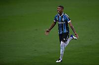 14th November 2020; Arena de Gremio, Porto Alegre, Brazil; Brazilian Serie A football league, Gremio versus Ceara; Jean Pyerre of Gremio celebrates his goal in the 20th minute 1-0