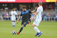 San Jose, CA - Saturday March 09, 2019: Major League Soccer (MLS) match between the San Jose Earthquakes and Minnesota United at Avaya Stadium.