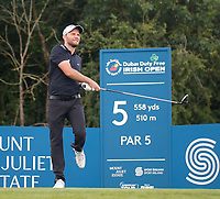 4th July 2021; Mount Juliet Golf Club, Kilkenny, Ireland; Dubai Duty Free Irish Open Golf, Day Four; Maximilian of Germany reacts to his drive on the 5th hole