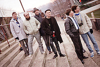 Barking fans are seen at Yeovil Town Football Club - circa 1987 - MANDATORY CREDIT: Gavin Ellis/TGSPHOTO - Self billing applies where appropriate - Tel: 0845 094 6026