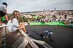 Alpecin-Fenix rider in action during Stage 1 of La Vuelta d'Espana 2021, a 7.1km individual time trial around Burgos, Spain. 14th August 2021.    <br /> Picture: Unipublic/Charly Lopez | Cyclefile<br /> <br /> All photos usage must carry mandatory copyright credit (© Cyclefile | Unipublic/Charly Lopez)