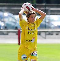 Supercup seizoen 2011 - 2012 ; Kampioen Standard Femina tegen Bekerwinnaar Waasland Beveren Sinaai Girls : Charlotte Vanwynsberghe.foto DAVID CATRY / Vrouwenteam.be