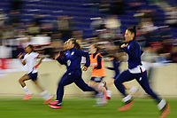 HARRISON, NJ - MARCH 08: Jessica McDonald #22, Casey Short #20, Mallory Pugh #2, Tierna Davidson #12, and Ali Krieger #11 of the United States during a game between Spain and USWNT at Red Bull Arena on March 08, 2020 in Harrison, New Jersey.
