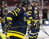 Jeff Solow (Merrimack - 21) - The visiting Merrimack College Warriors defeated the Boston University Terriers 4-1 to complete a regular season sweep on Friday, January 27, 2017, at Agganis Arena in Boston, Massachusetts.The visiting Merrimack College Warriors defeated the Boston University Terriers 4-1 to complete a regular season sweep on Friday, January 27, 2017, at Agganis Arena in Boston, Massachusetts.