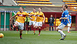 07.04.2019 Motherwell v Rangers: Scott Arfield scores his third goal after being set up by Jermain Defoe