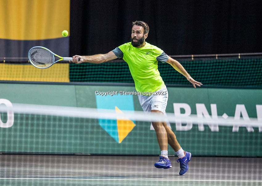 Rotterdam, The Netherlands, 27 Februari 2021, ABNAMRO World Tennis Tournament, Ahoy, Qualyfying match: Vaclav Safranek (CZE)<br /> Photo: www.tennisimages.com/henkkoster