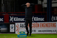 19th December 2020; Dens Park, Dundee, Scotland; Scottish Championship Football, Dundee FC versus Dunfermline; Dunfermline Athletic manager Stevie Crawford