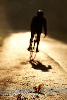 Sam Behr  riding Carrera road bike Surrey  , November 2011 pic copyright Steve Behr / Stockfile