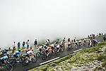 The peloton climb Col du Tourmalet during Stage 18 of the 2021 Tour de France, running 129.7km from Pau to Luz Ardiden, France. 15th July 2021.  <br /> Picture: A.S.O./Charly Lopez   Cyclefile<br /> <br /> All photos usage must carry mandatory copyright credit (© Cyclefile   A.S.O./Charly Lopez)