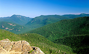 Crawford Notch from the summit of Mount Crawford in the White Mountains, New Hampshire. The Maine Central railroad travels through this notch.