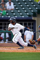 NW Arkansas Naturals outfielder Terrance Gore (3) at bat during a game against the San Antonio Missions on May 31, 2015 at Arvest Ballpark in Springdale, Arkansas.  NW Arkansas defeated San Antonio 3-1.  (Mike Janes/Four Seam Images)