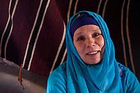 Ksar Elkhorbat, Morocco.  Middle-aged Amazigh Berber Woman.