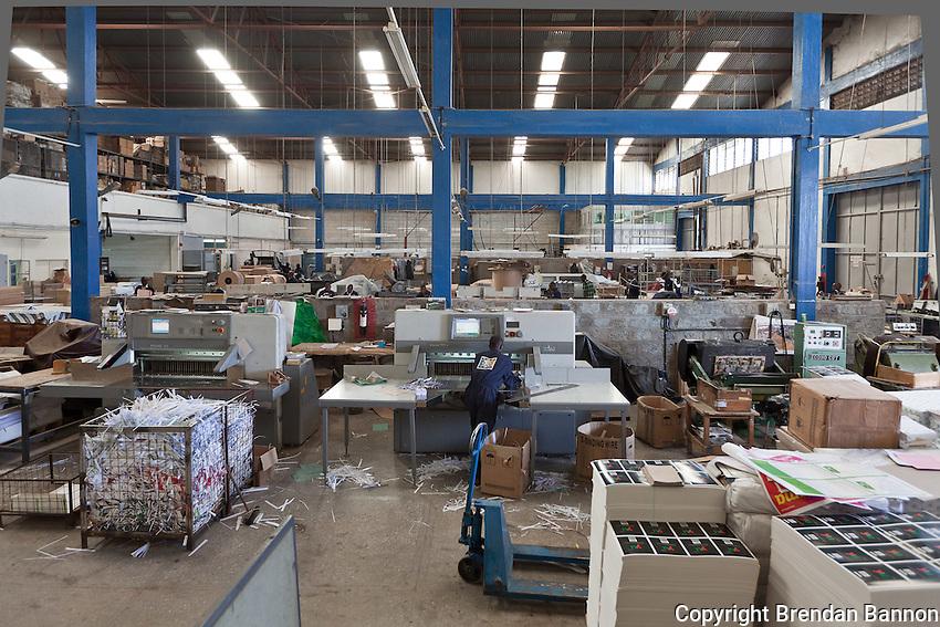 Hi-tech printing at Colourprint in Nairobi, Kenya.