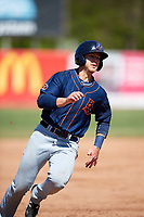 Bowling Green Hot Rods third baseman Michael Brosseau (10) runs the bases during a game against the Beloit Snappers on May 7, 2017 at Pohlman Field in Beloit, Wisconsin.  Bowling Green defeated Beloit 6-2.  (Mike Janes/Four Seam Images)