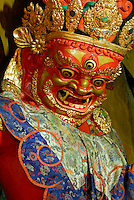 Three-eyed protector deity, Tamdrin, or Hayagriva in Sanskrit, guards a chapel off the Main Assembly Hall, Drepung Monastery, Lhasa, Tibet, China..