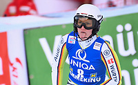 29th December 2020; Semmering, Austria; FIS Womens Giant Slalom World Cu Skiing; Lena Duerr of Germany reacts after her 1st run of women Slalom competition of FIS ski alpine world cup at the Panoramapiste in Semmering
