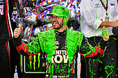 Monster Energy NASCAR Cup Series<br /> Tales of the Turtles 400<br /> Chicagoland Speedway, Joliet, IL USA<br /> Sunday 17 September 2017<br /> Martin Truex Jr, Furniture Row Racing, Furniture Row/Denver Mattress Toyota Camry celebrates in victory lane and gets slimed <br /> World Copyright: Logan Whitton<br /> LAT Images