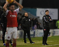 Fleetwood Town manager Joey Barton watches from the touchline<br /> <br /> Photographer Kevin Barnes/CameraSport<br /> <br /> The EFL Sky Bet League One - Shrewsbury Town v Fleetwood Town - Tuesday 1st January 2019 - New Meadow - Shrewsbury<br /> <br /> World Copyright © 2019 CameraSport. All rights reserved. 43 Linden Ave. Countesthorpe. Leicester. England. LE8 5PG - Tel: +44 (0) 116 277 4147 - admin@camerasport.com - www.camerasport.com