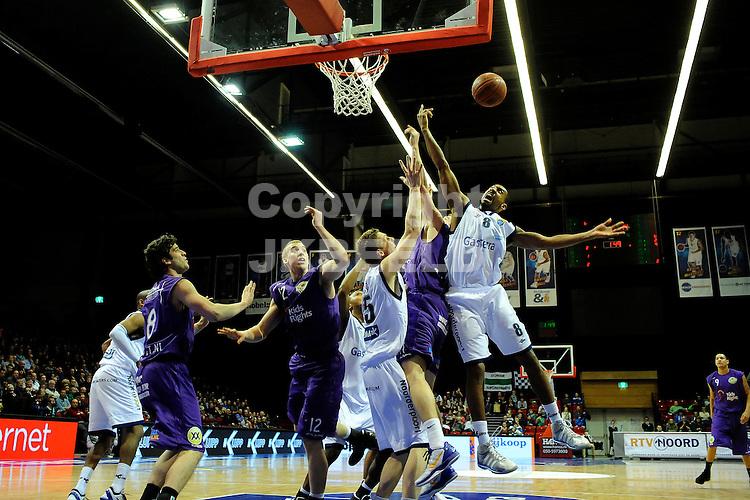 GRONINGEN - Basketbal, Martiniplaza,  Gasterra Flames - Magixx Nijmegen, Dutsch Basketball League, seizoen 2011-2012, 11-02-2012,     .