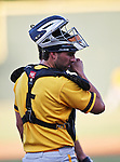 Amarillo Sox Catcher Benji Johnson (5) in action during the American Association of Independant Professional Baseball game between the Amarillo Sox and the Fort Worth Cats at the historic LaGrave Baseball Field in Fort Worth, Tx. Fort Worth defeats Amarillo 3 to 0......