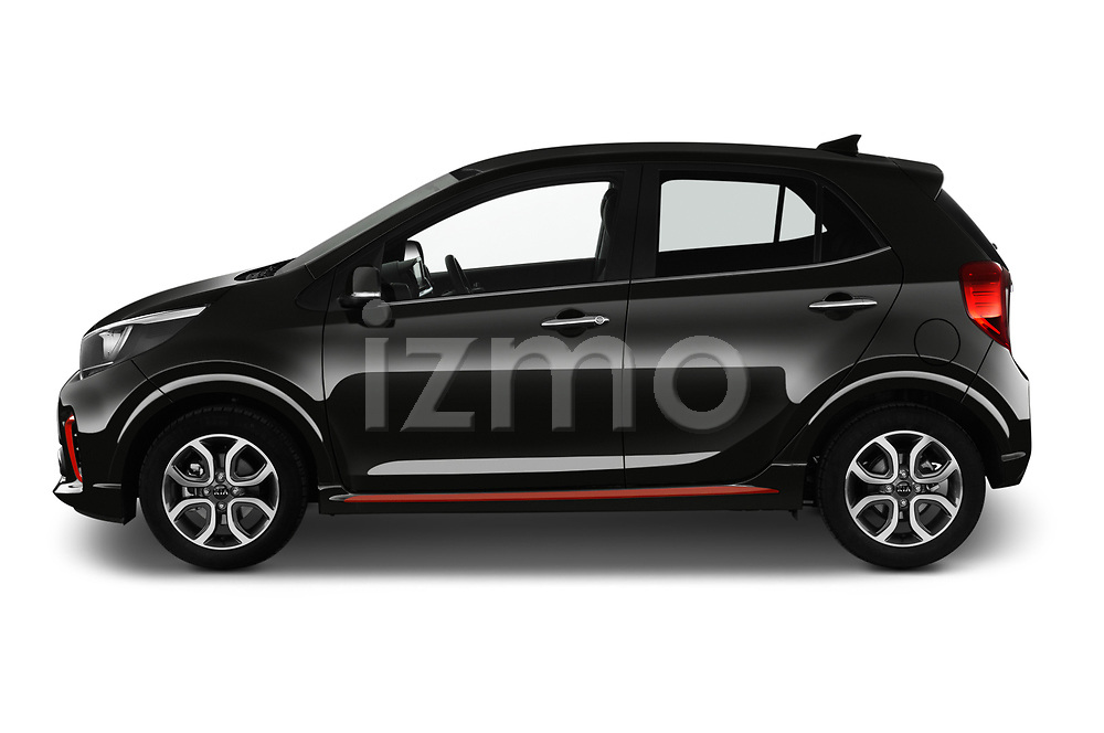 Car driver side profile view of a 2019 KIA Picanto GT Line 5 Door Hatchback