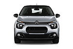 Car photography straight front view of a 2020 Citroen C3 Shine 5 Door Hatchback Front View