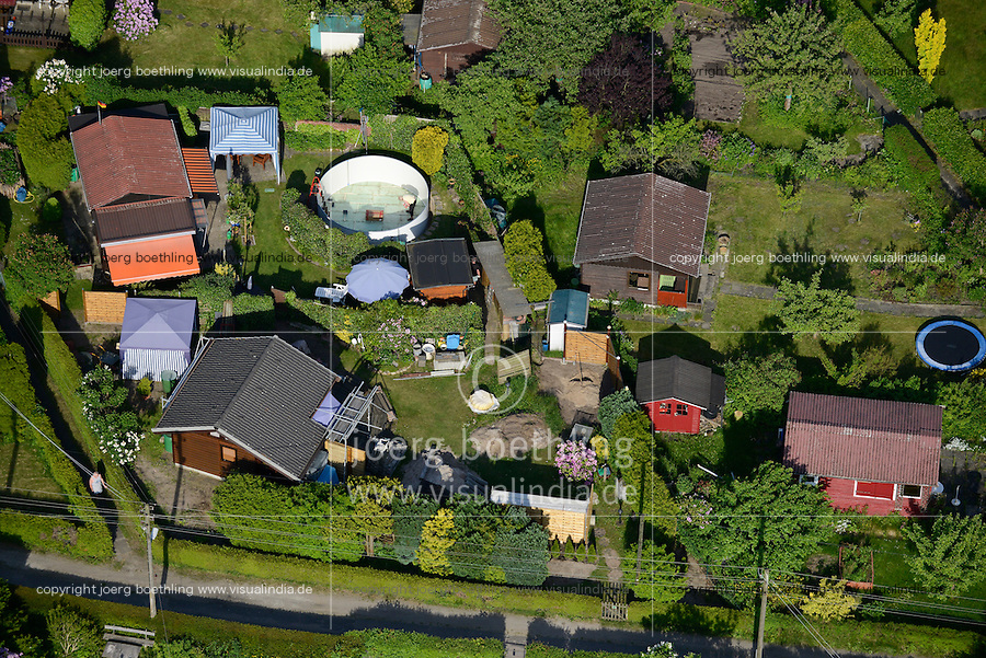 GERMANY Hamburg city garden in Barmbek / DEUTSCHLAND Hamburg Kleingaerten in Barmbek
